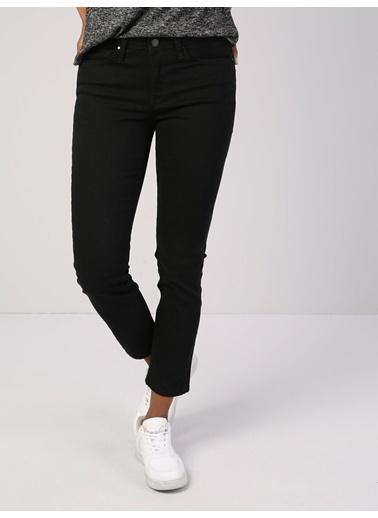 Colin's Slim Fit Orta Bel Rahat Kesim Paça Kadın Siyah Pantolon Siyah
